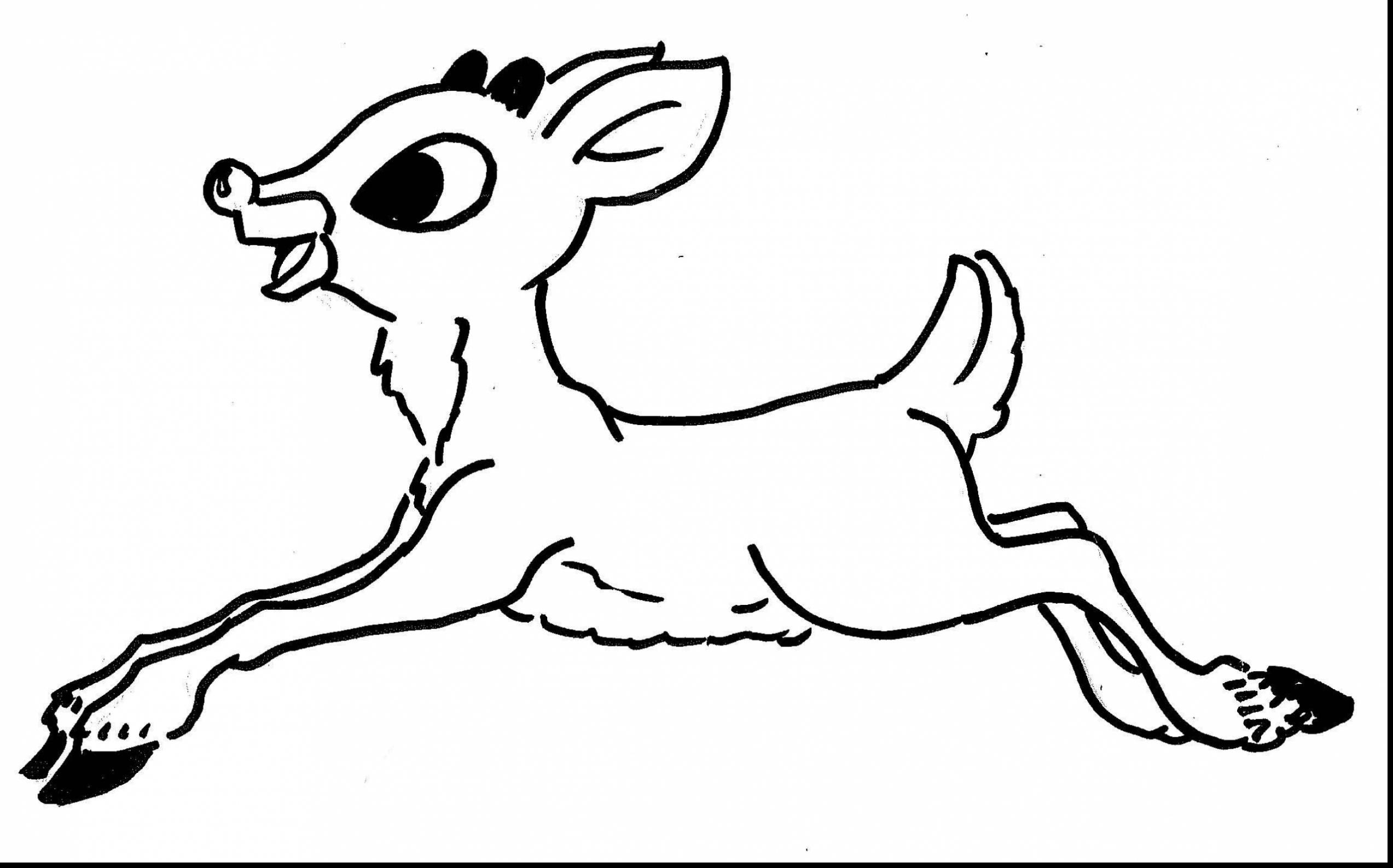 Christmas Santa S Reindeer Coloring Pages With Rudolph The Red Nosed To Print Free
