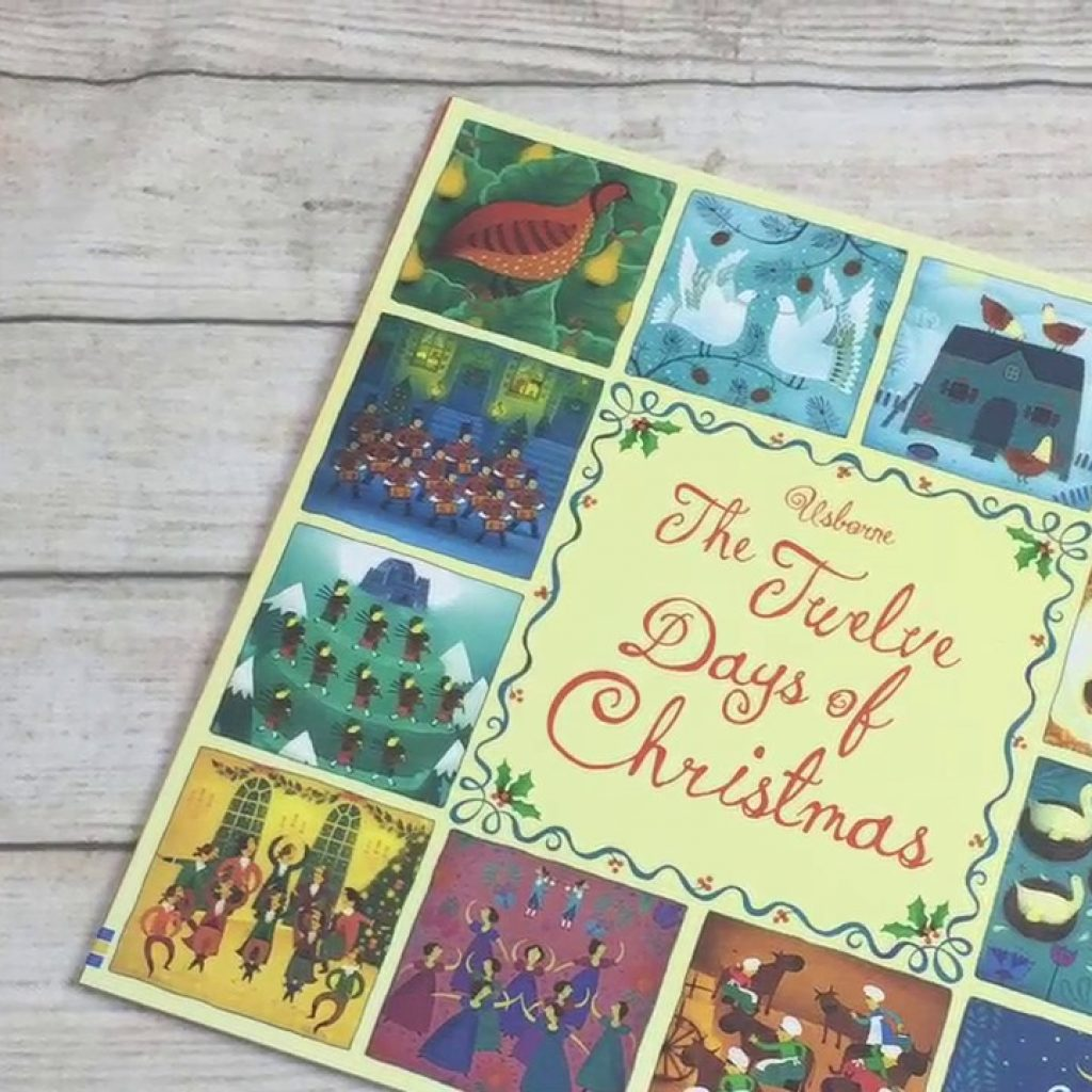 Christmas Stained Glass Coloring Usborne With A Look Inside The Twelve Days Of Picture Book Pack