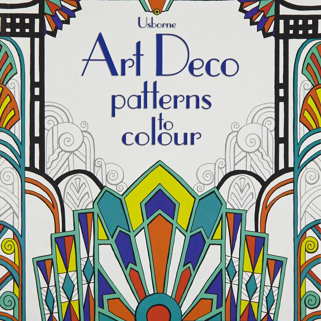 Christmas Stained Glass Coloring Usborne With Art Deco Patterns To Colour Colouring Books Amazon Co Uk Emily