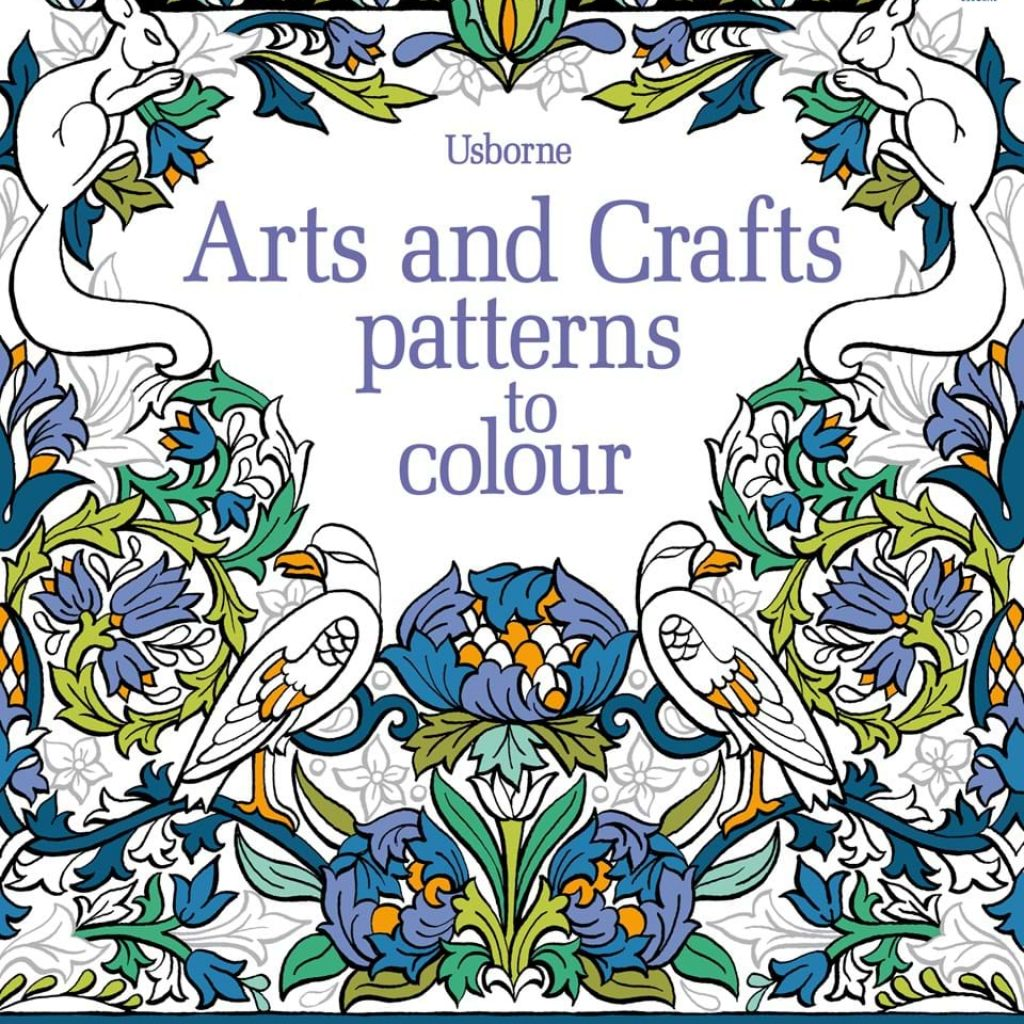 Christmas Stained Glass Coloring Usborne With Arts And Crafts Patterns To Colour At Children S Books