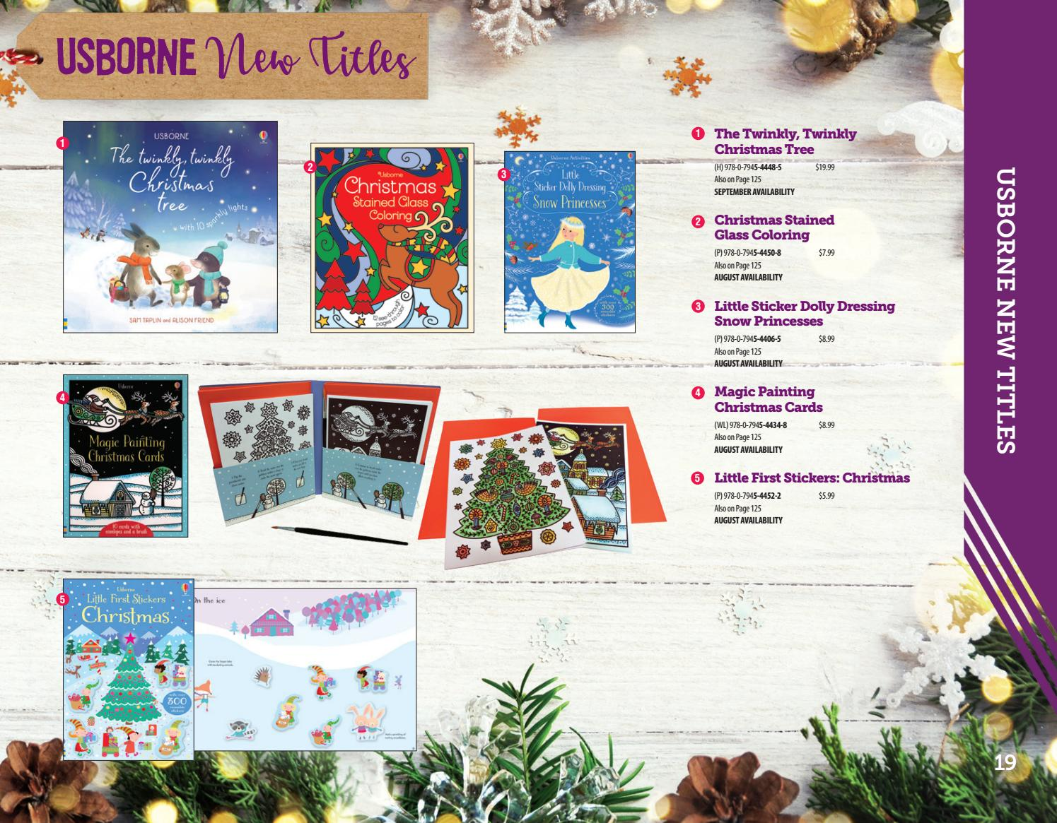 Christmas Stained Glass Coloring Usborne With Books More Fall 2018 Full Catalog By