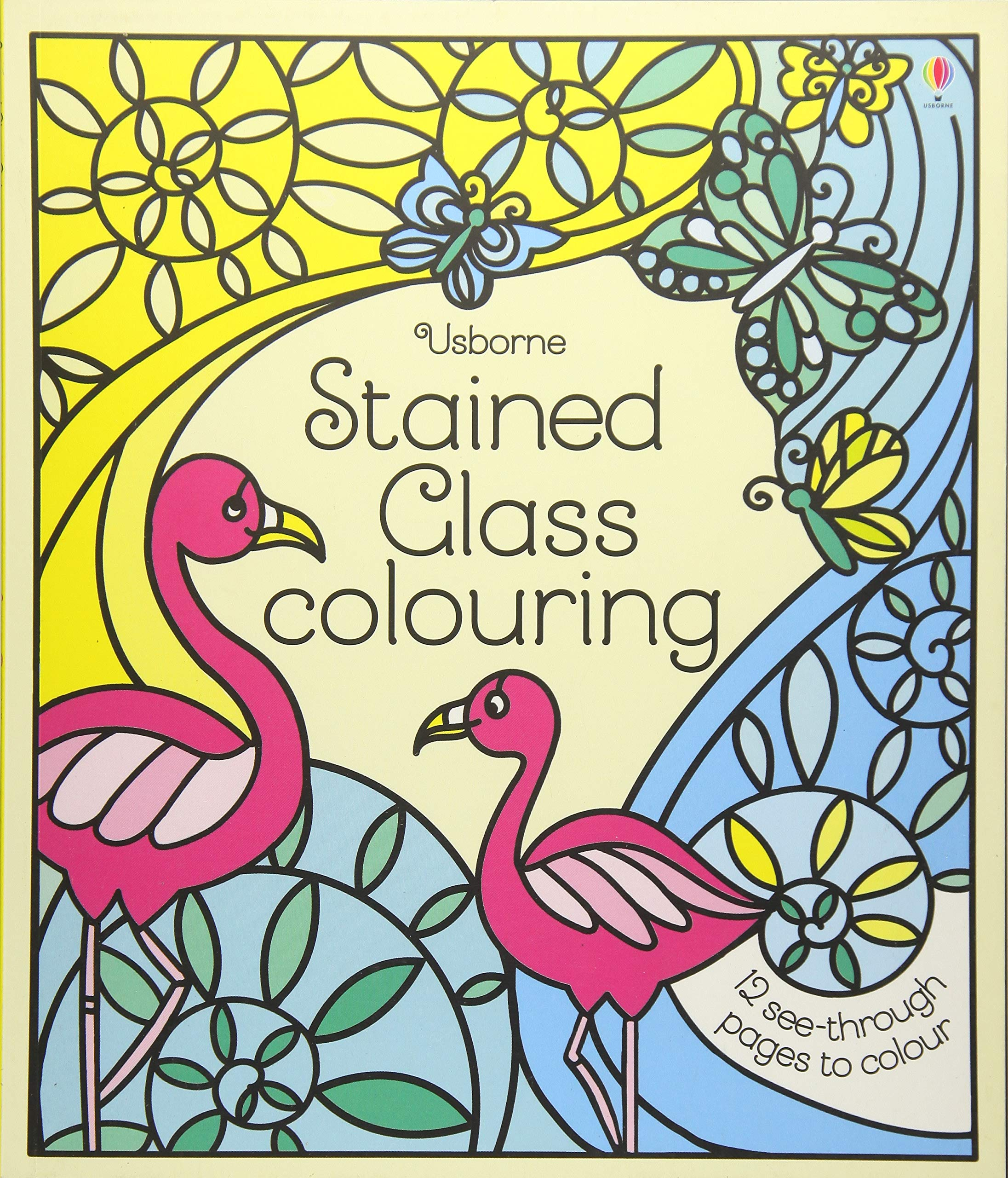 Christmas Stained Glass Coloring Usborne With Colouring Amazon Co Uk Struan Reid Sveta Dorosheva