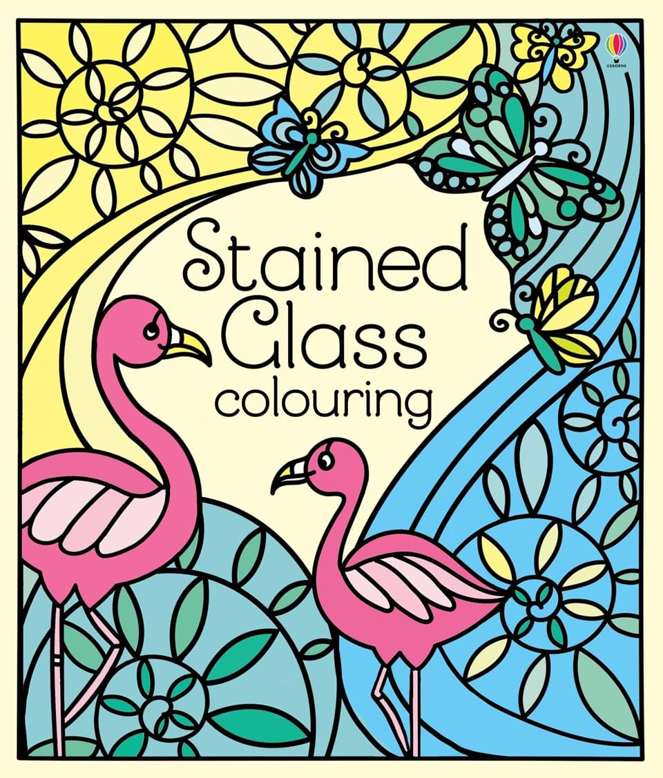 Christmas Stained Glass Coloring Usborne With Colouring At Children S Books