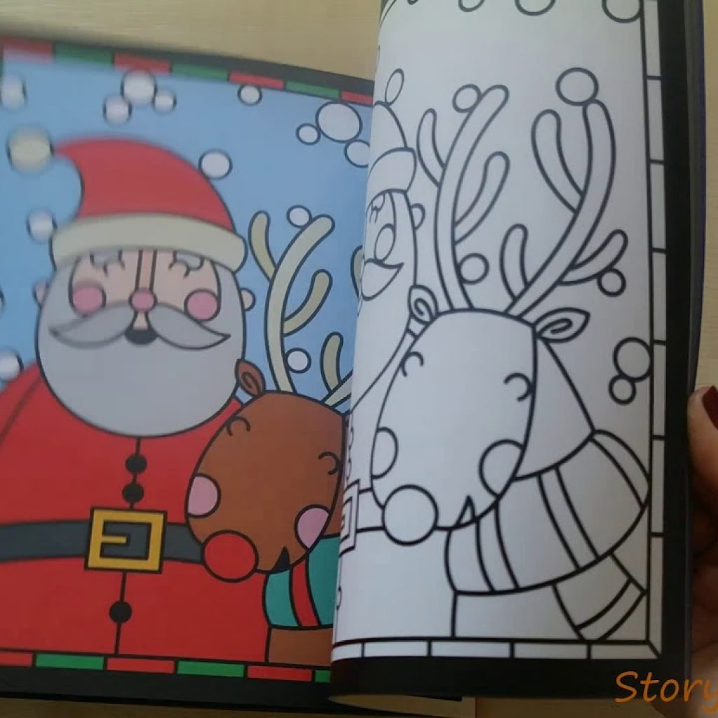 Christmas Stained Glass Coloring Usborne With Colouring YouTube