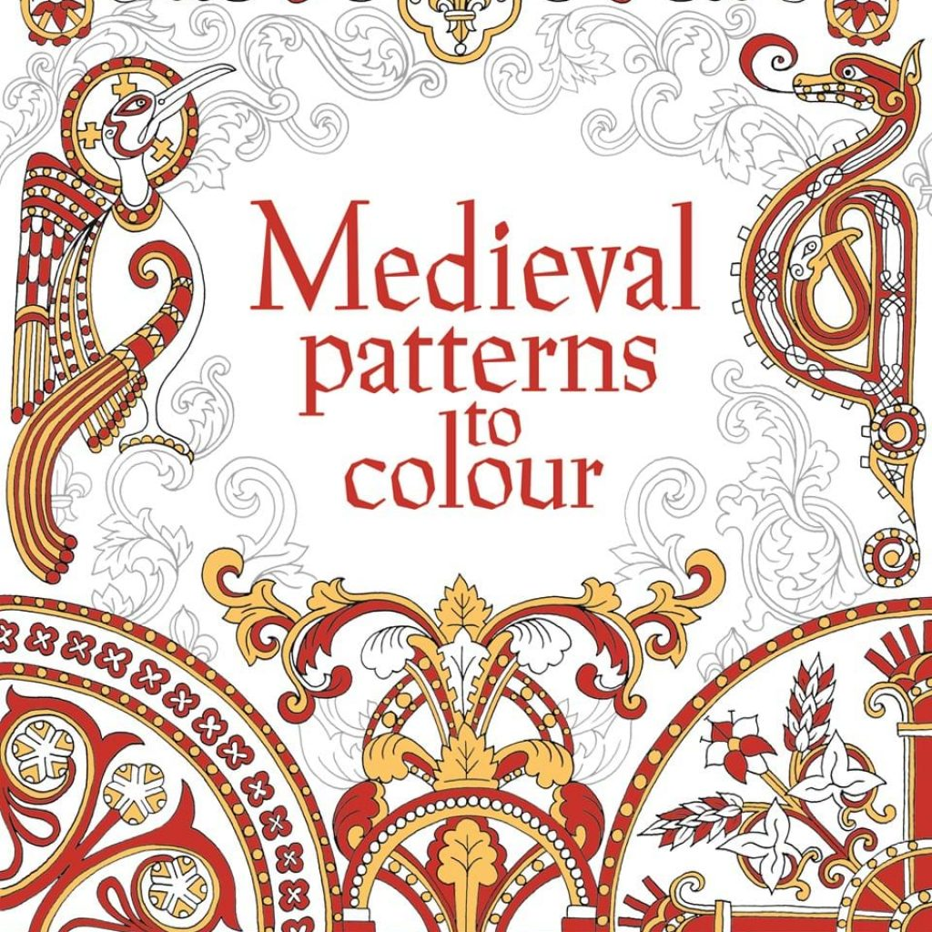 Christmas Stained Glass Coloring Usborne With Medieval Patterns To Colour At Children S Books