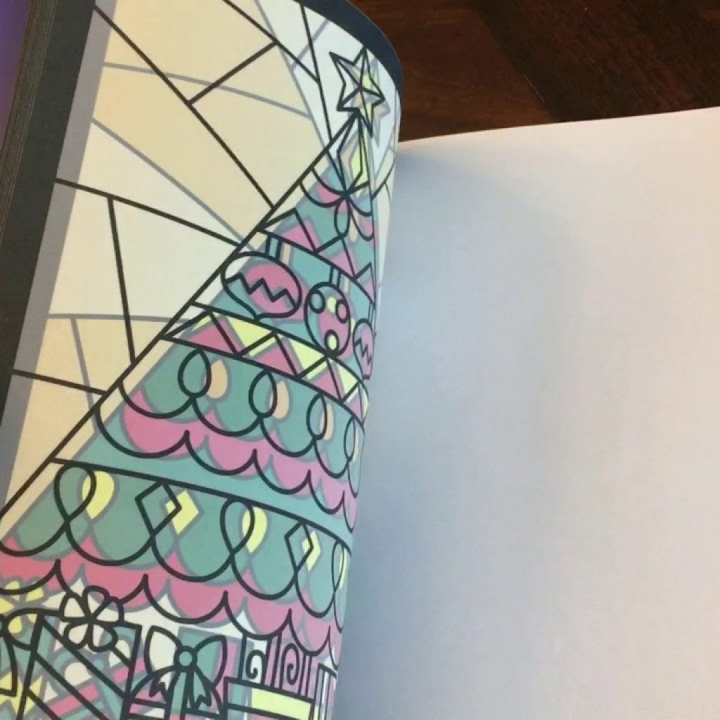 Christmas Stained Glass Coloring Usborne With YouTube