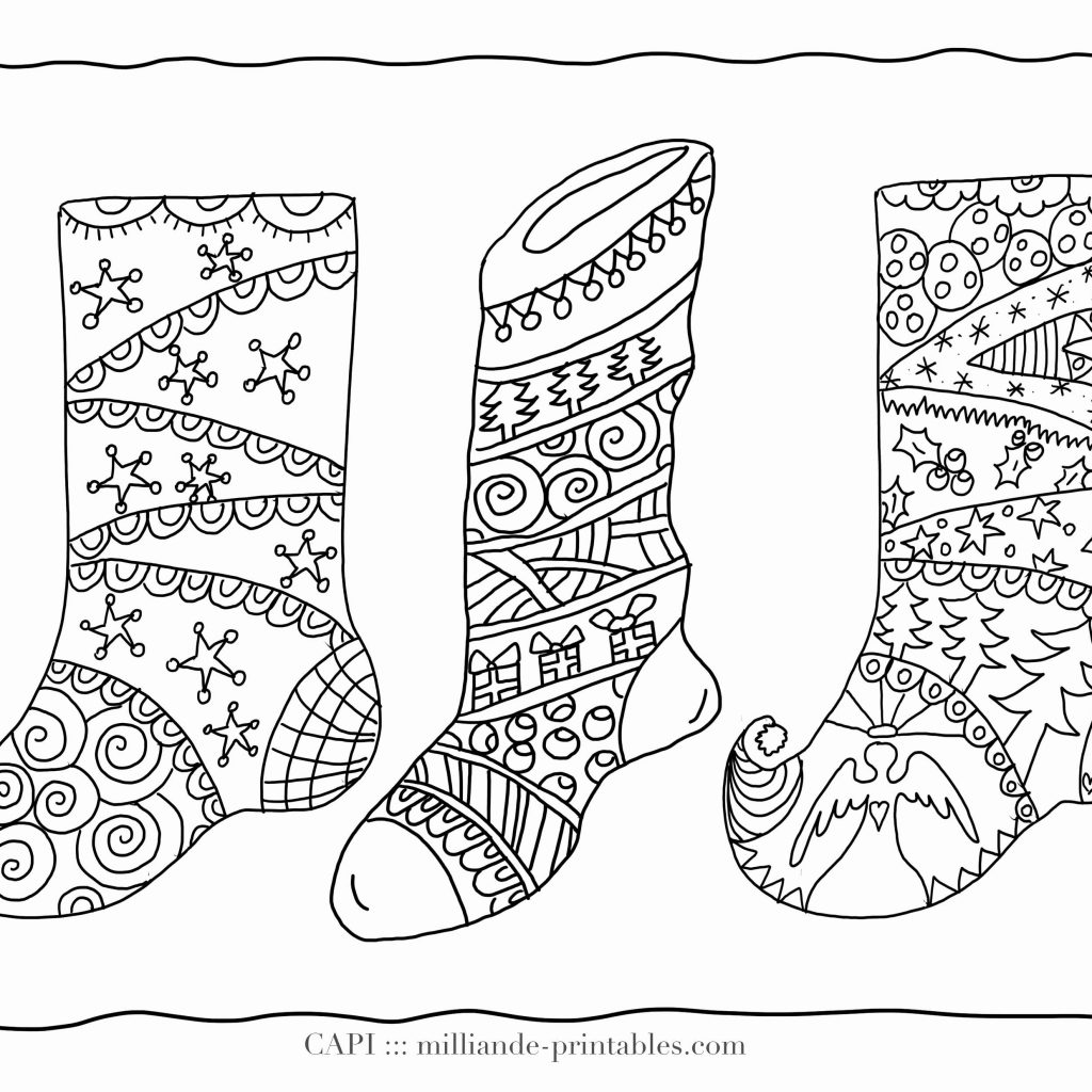 Christmas Stocking Coloring Pages For Adults With Color Page