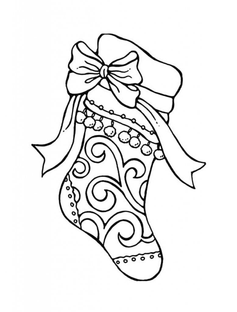 Christmas Stocking Coloring Pages For Adults With Napisy Me