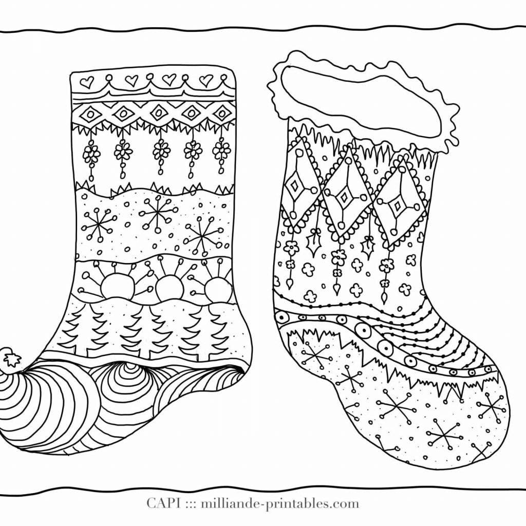 Christmas Stocking Coloring Pages For Adults With Printable Stockings New