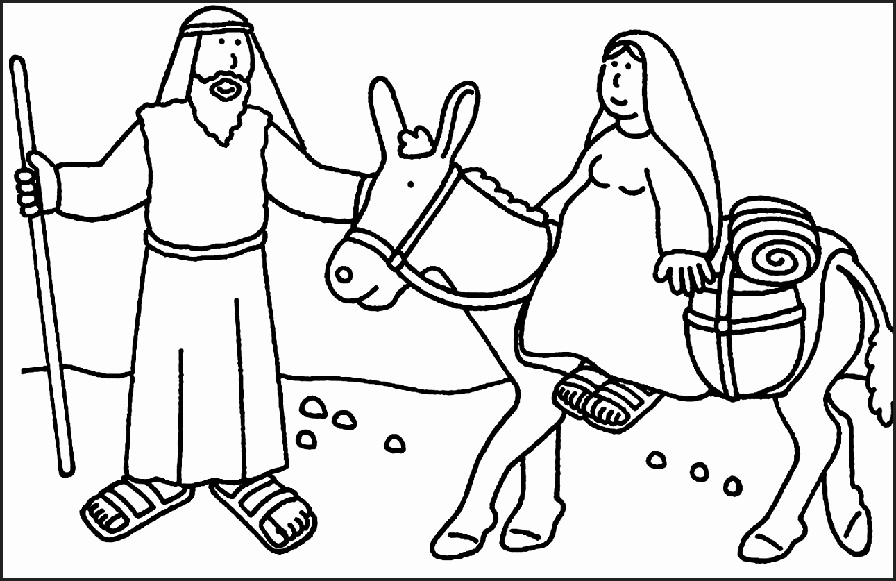 Christmas Story Coloring Pages Nativity With Free Sheets