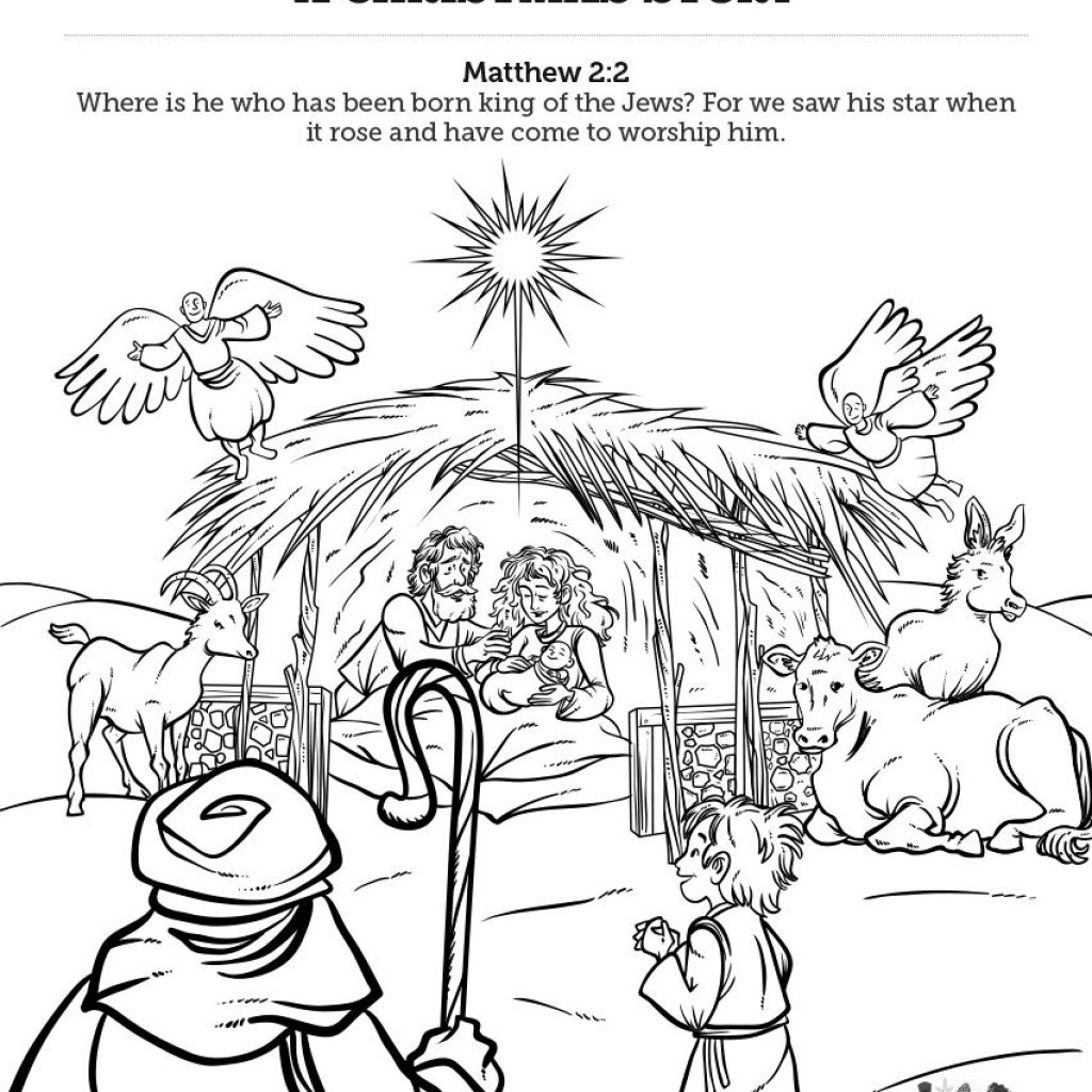 Christmas Story Coloring Pages Printable With Matthew 2 The Magi Sunday School