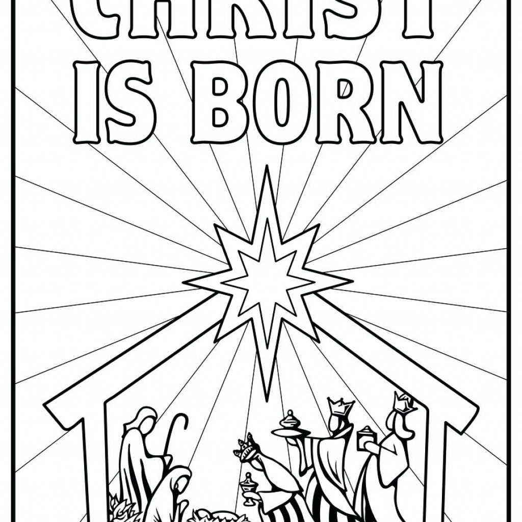Christmas Story Coloring Pages Printable With Nativity Colouring Book And