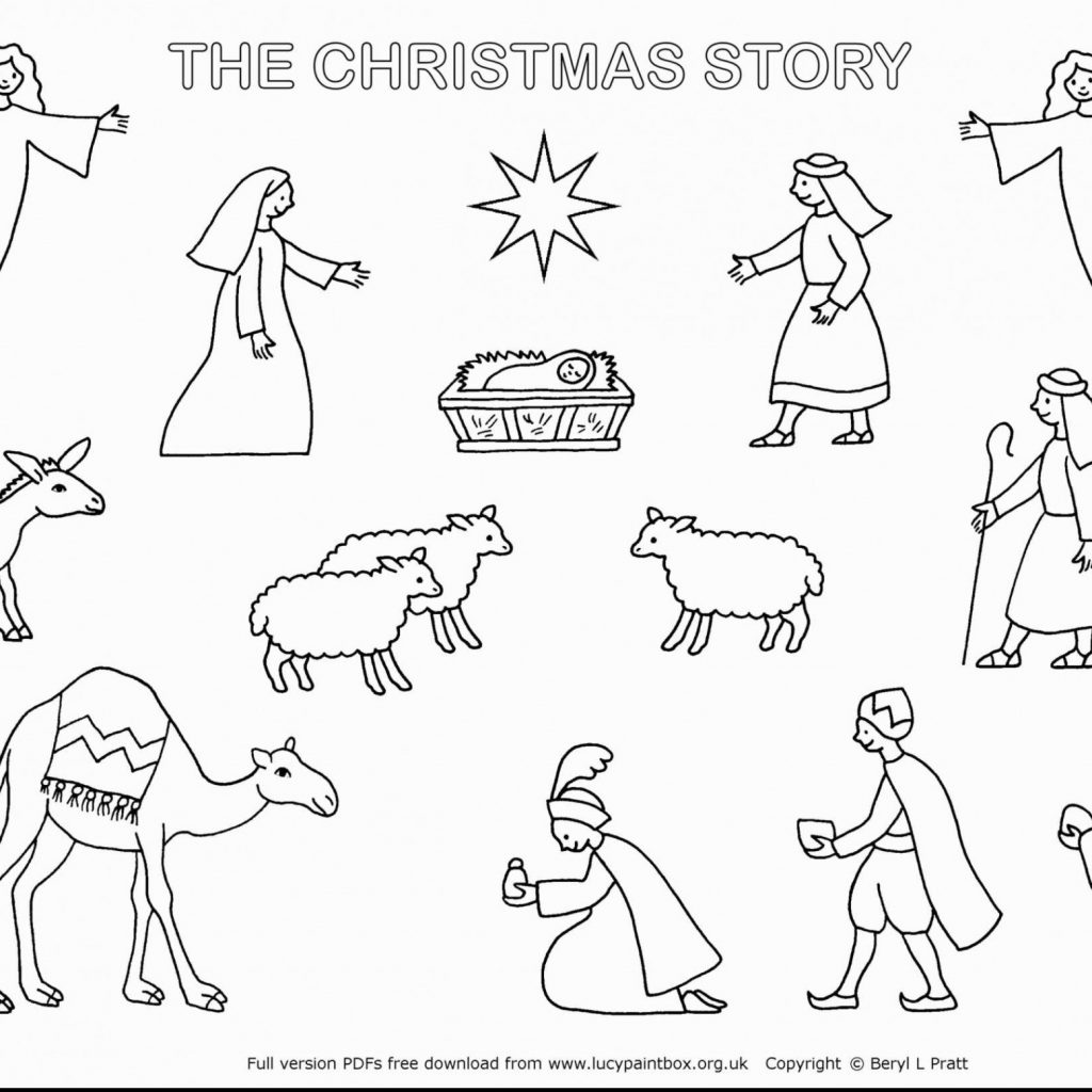 Christmas Story Coloring Pages Printable With Nativity Jesus