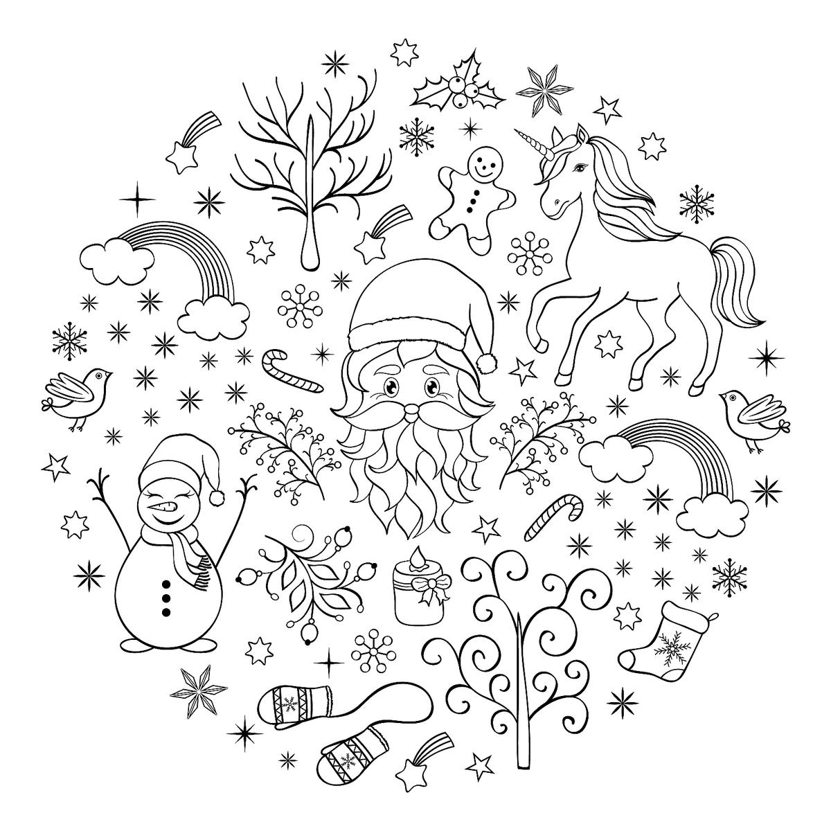 Christmas Thank You Coloring Pages With 16 Printable For The