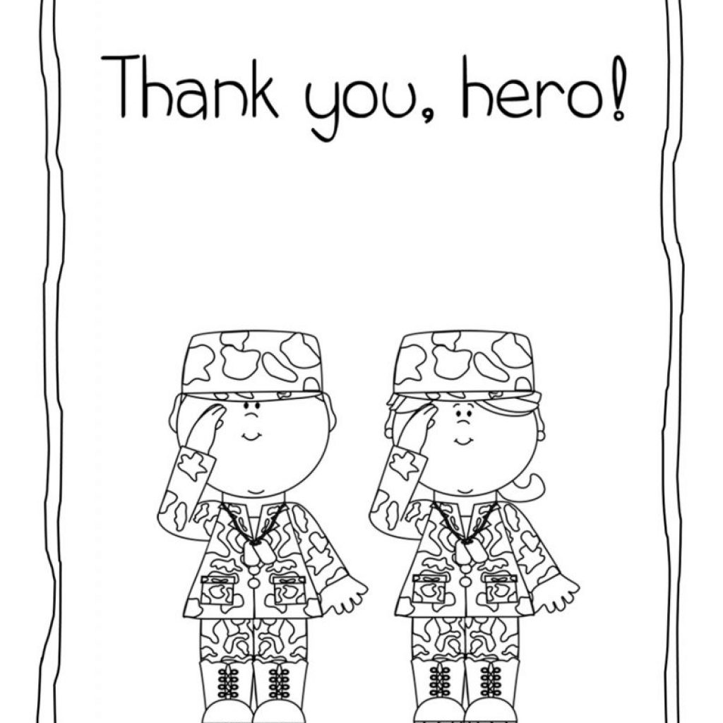 Christmas Thank You Coloring Pages With For Veterans Printable Page Kids