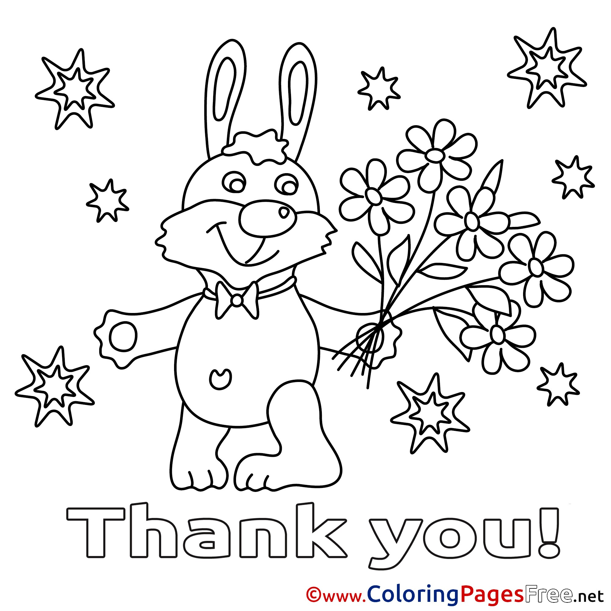 Christmas Thank You Coloring Pages With New