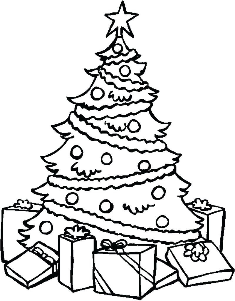 Christmas Tree Coloring In With Collection Of Pages Download Them And Try