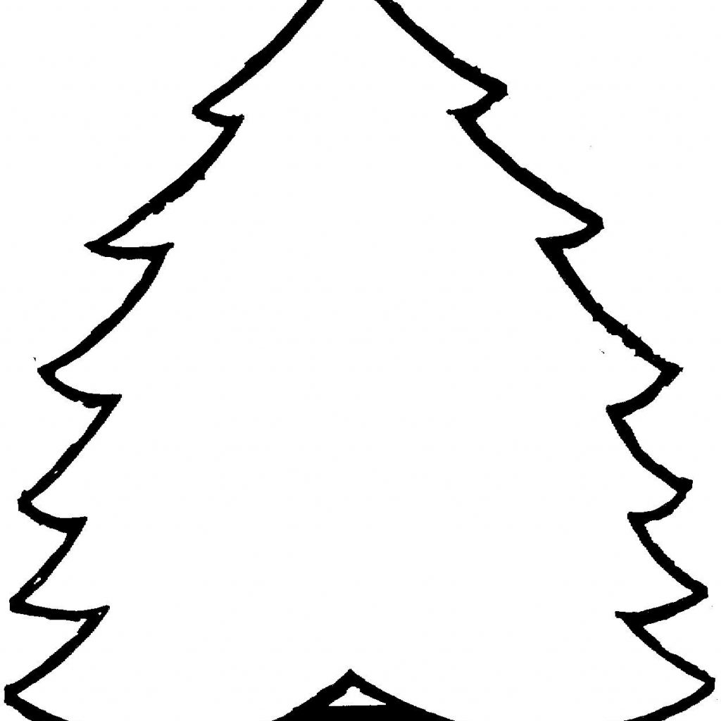 Christmas Tree Coloring In With Pages Printable Pinterest