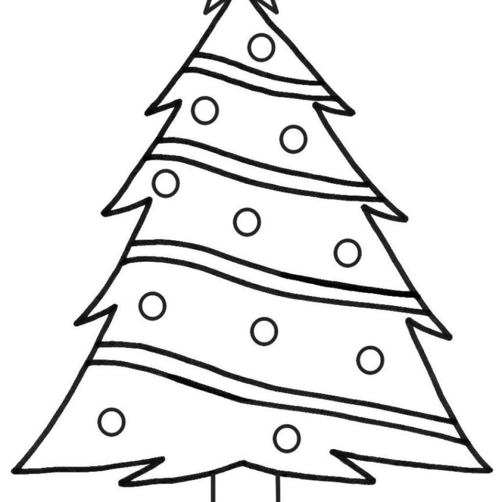 Christmas Tree Coloring In With Print Page Printable Or Download Pages