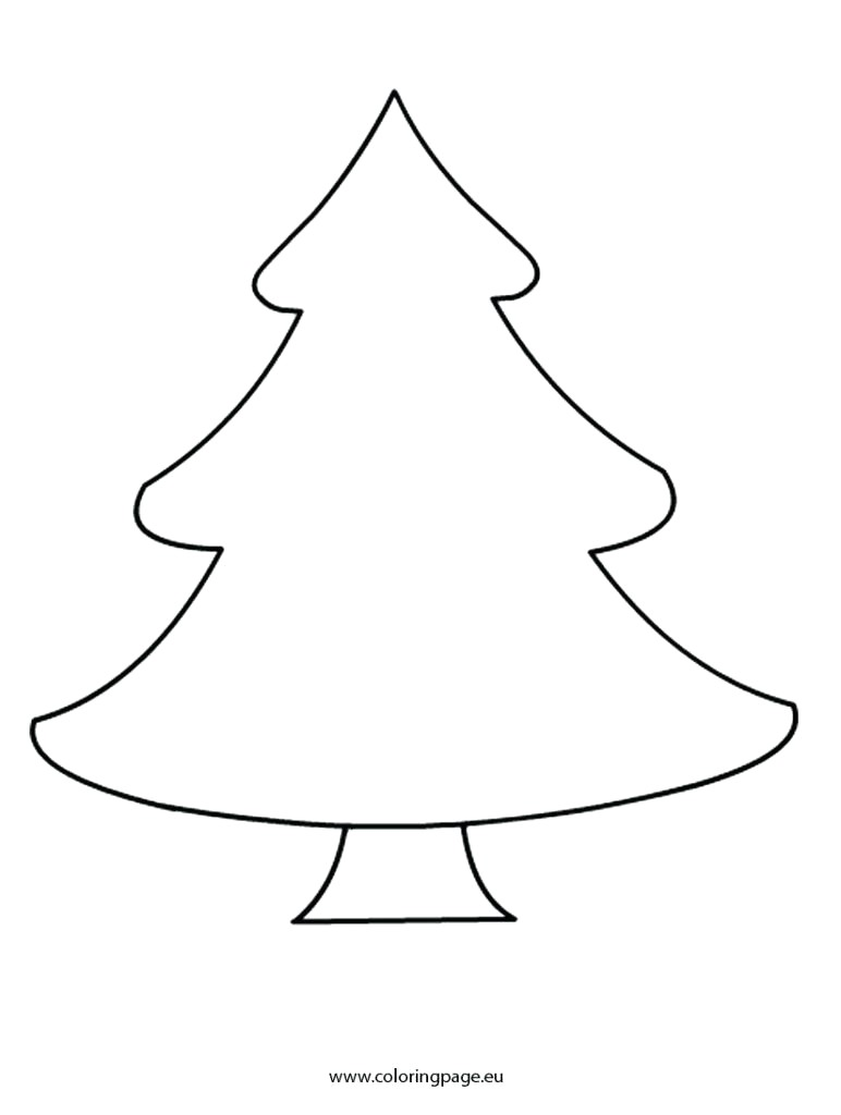 Christmas Tree Coloring Page With Blank Thanhhoacar Com