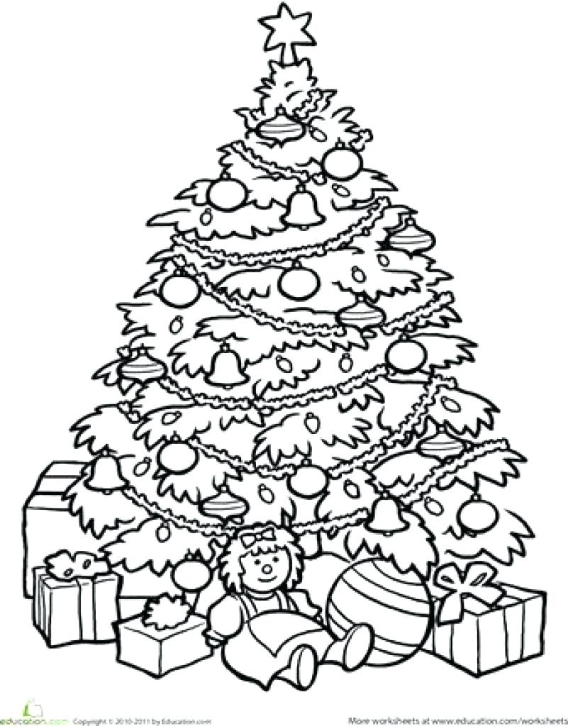 Christmas Tree Coloring Page With Collection Of Pages Trees Download Them And
