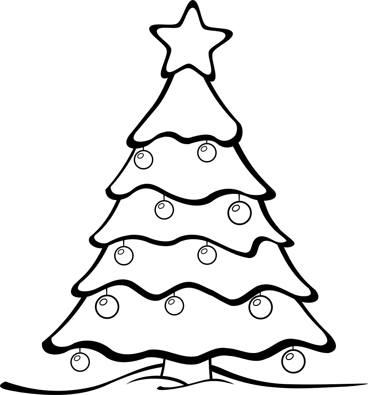 Christmas Tree Coloring Page With Colour And Design Your Own Printables In The Playroom