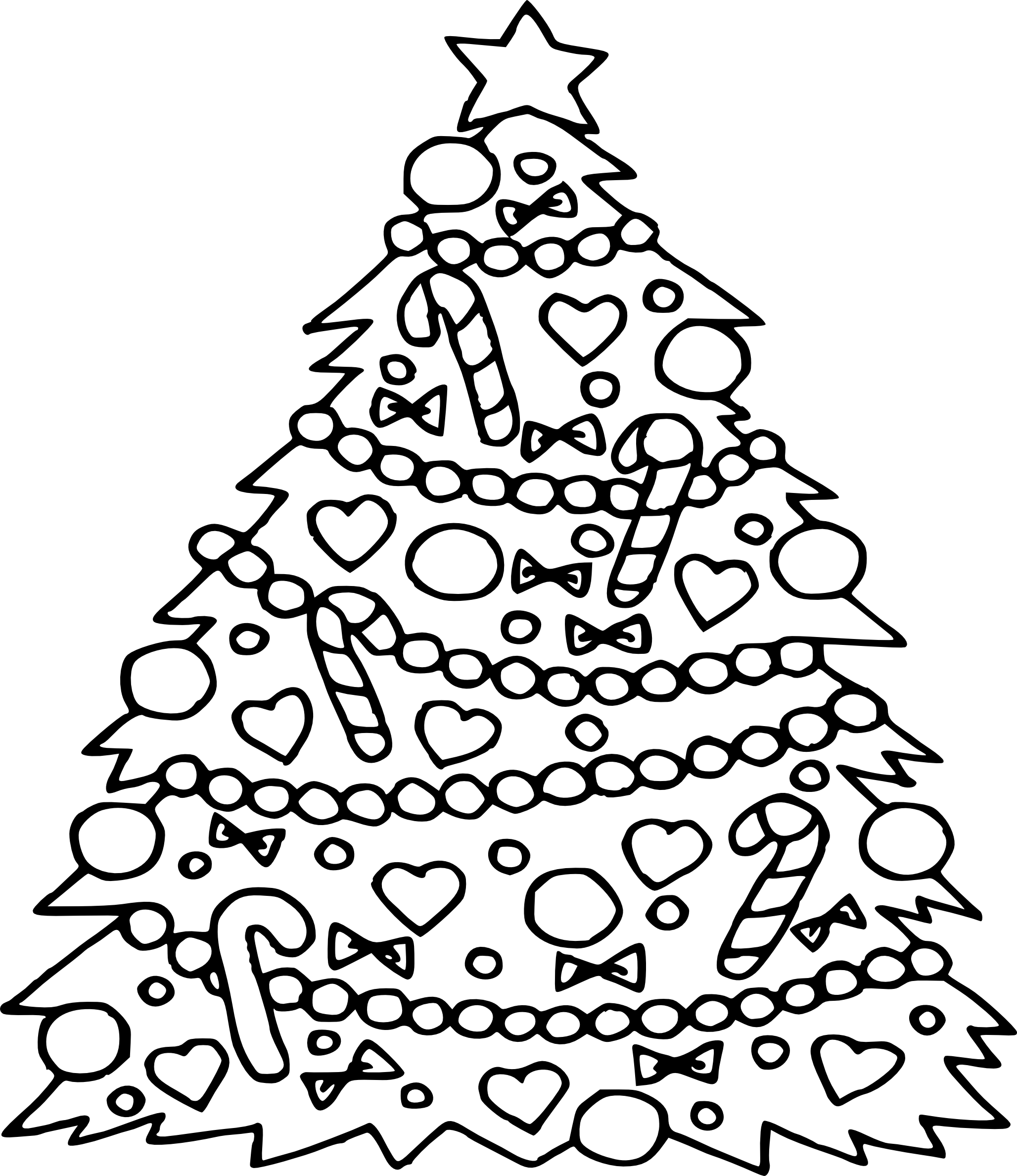 Christmas Tree Coloring Page With Pages Of Trees Printable Free Books