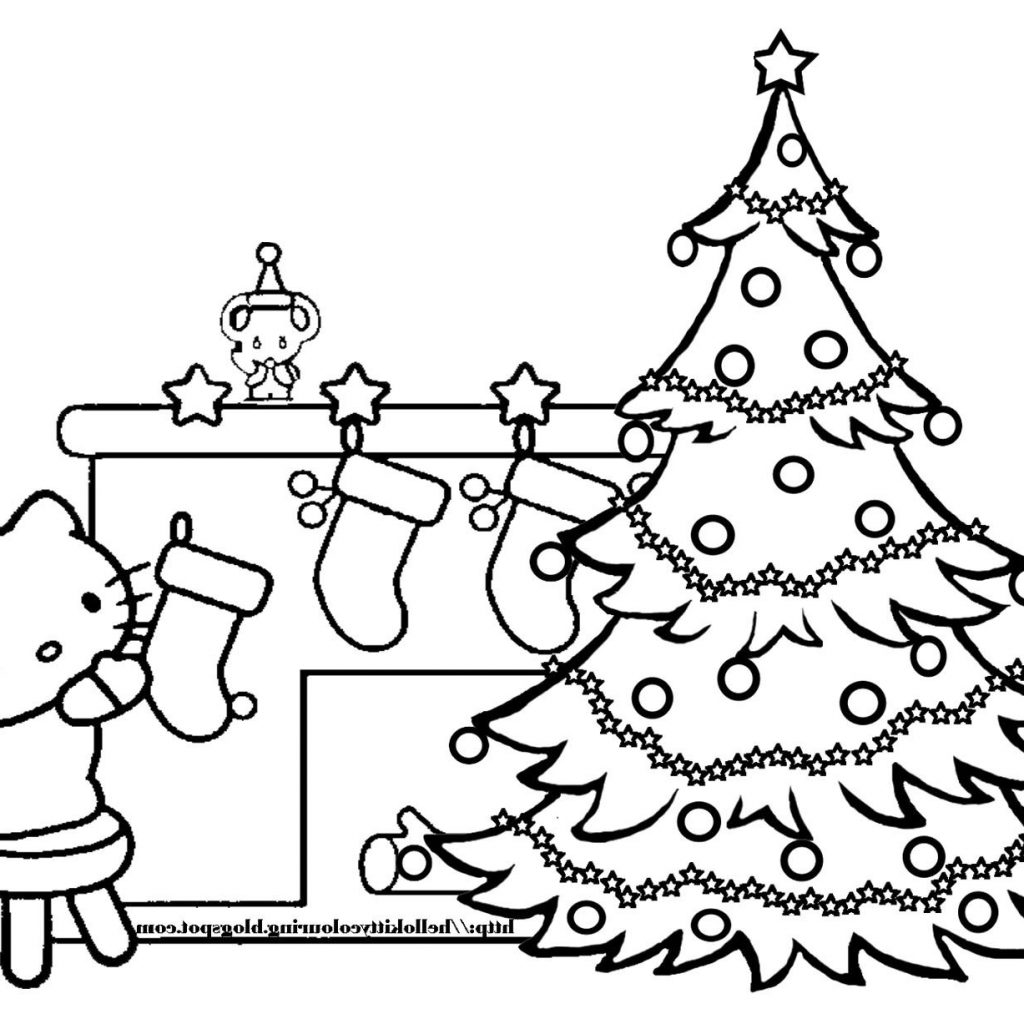 Christmas Tree Coloring Page With Pages Save 4