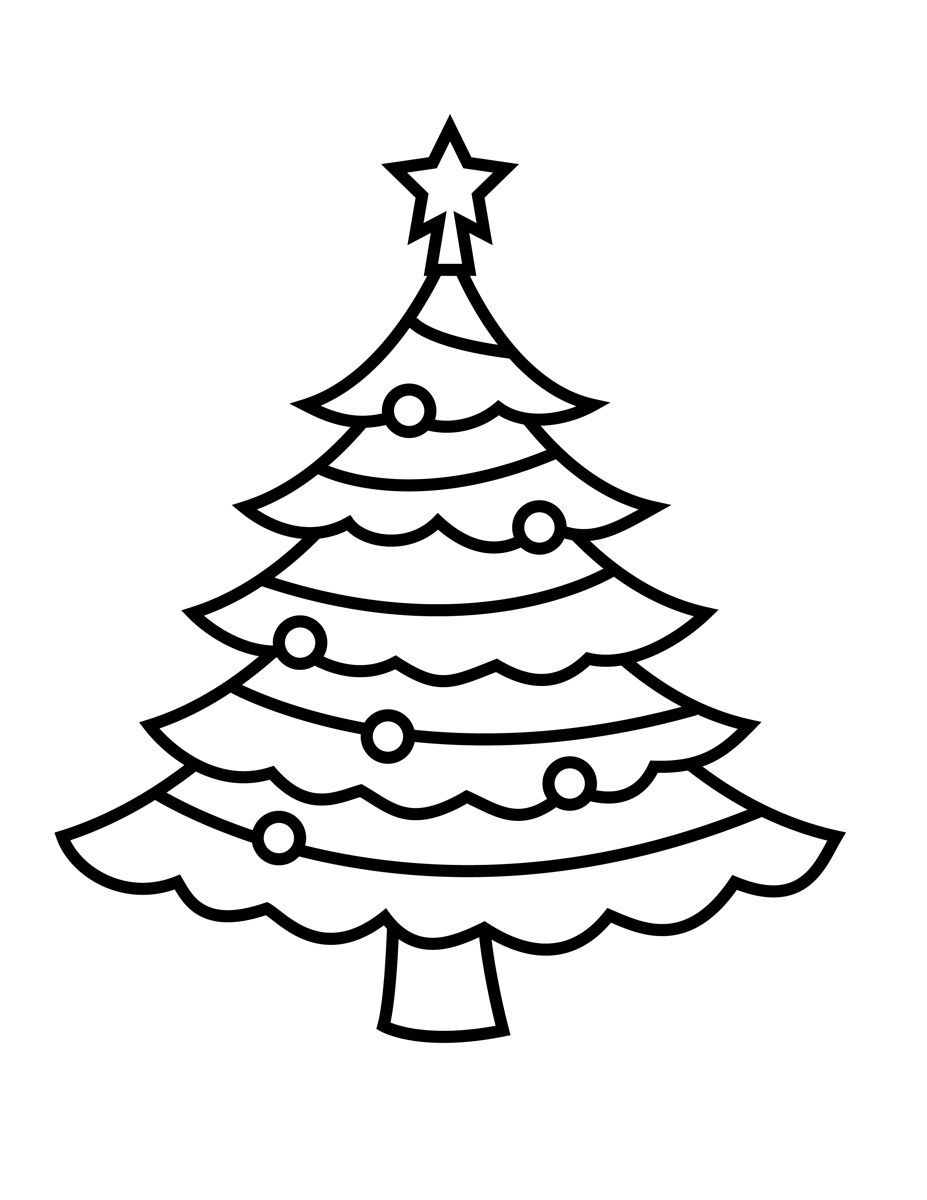 Christmas Tree Coloring Page With Pin By Shreya Thakur On Free Pages Pinterest