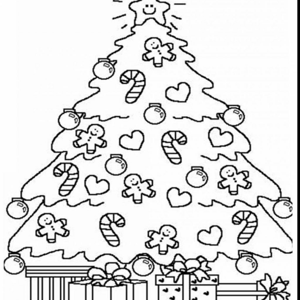 Christmas Tree Coloring Pages For Adults With Printable And Gifts Free Book