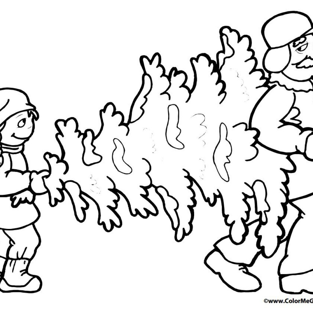 Christmas Tree Coloring Pages Free With 113 For The Kids