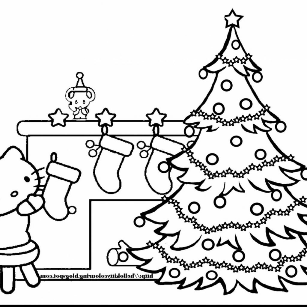 Christmas Tree Coloring Pages Free With Beautiful Of Xmas Stock Printable