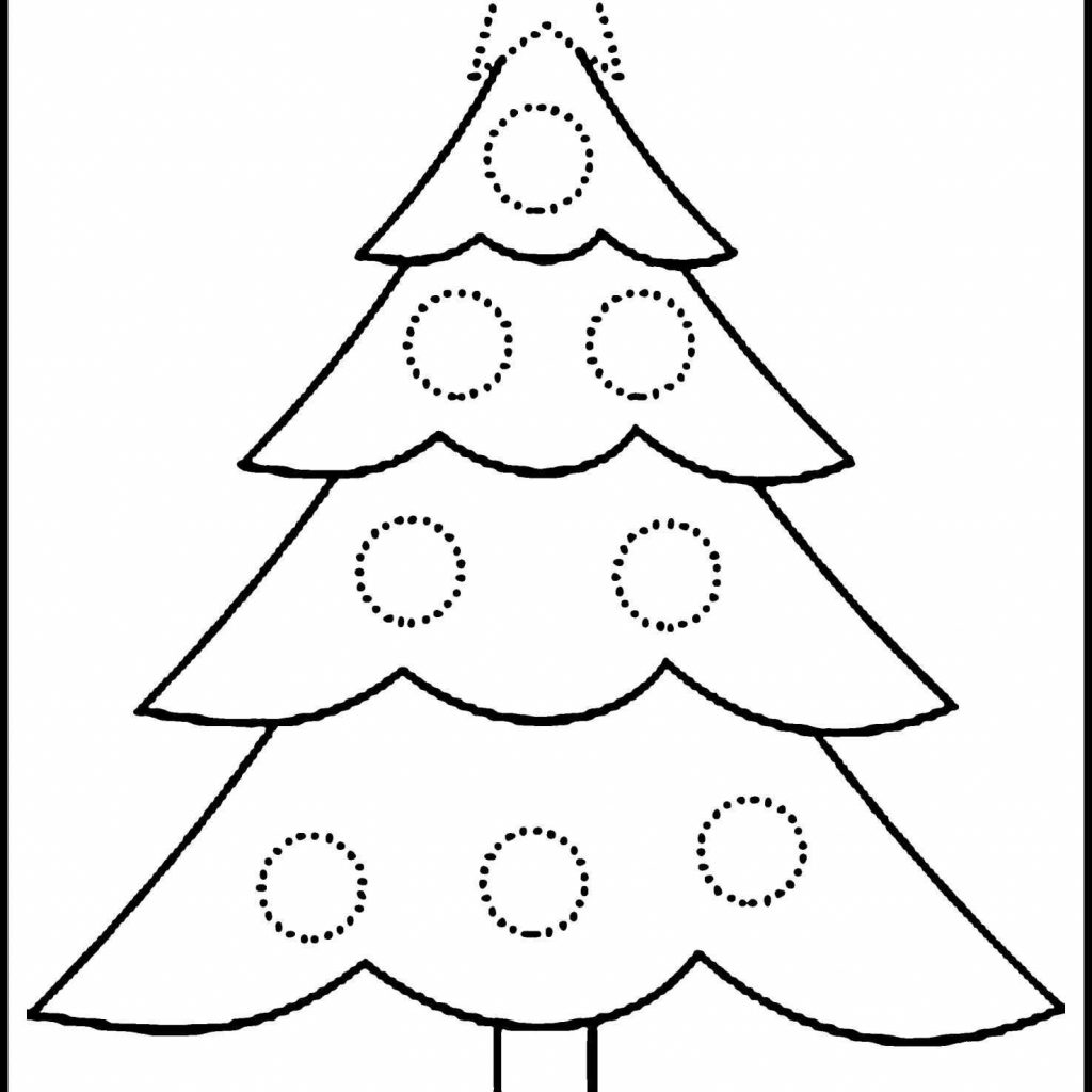 Christmas Tree Coloring Pages Free With For Kids Beautiful