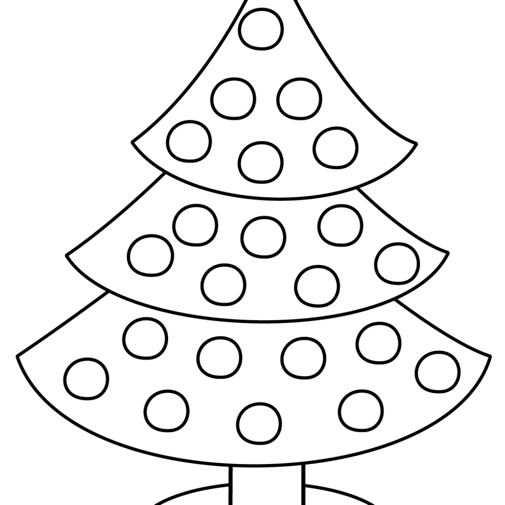 Christmas Tree Coloring Pages Free With Page Printable