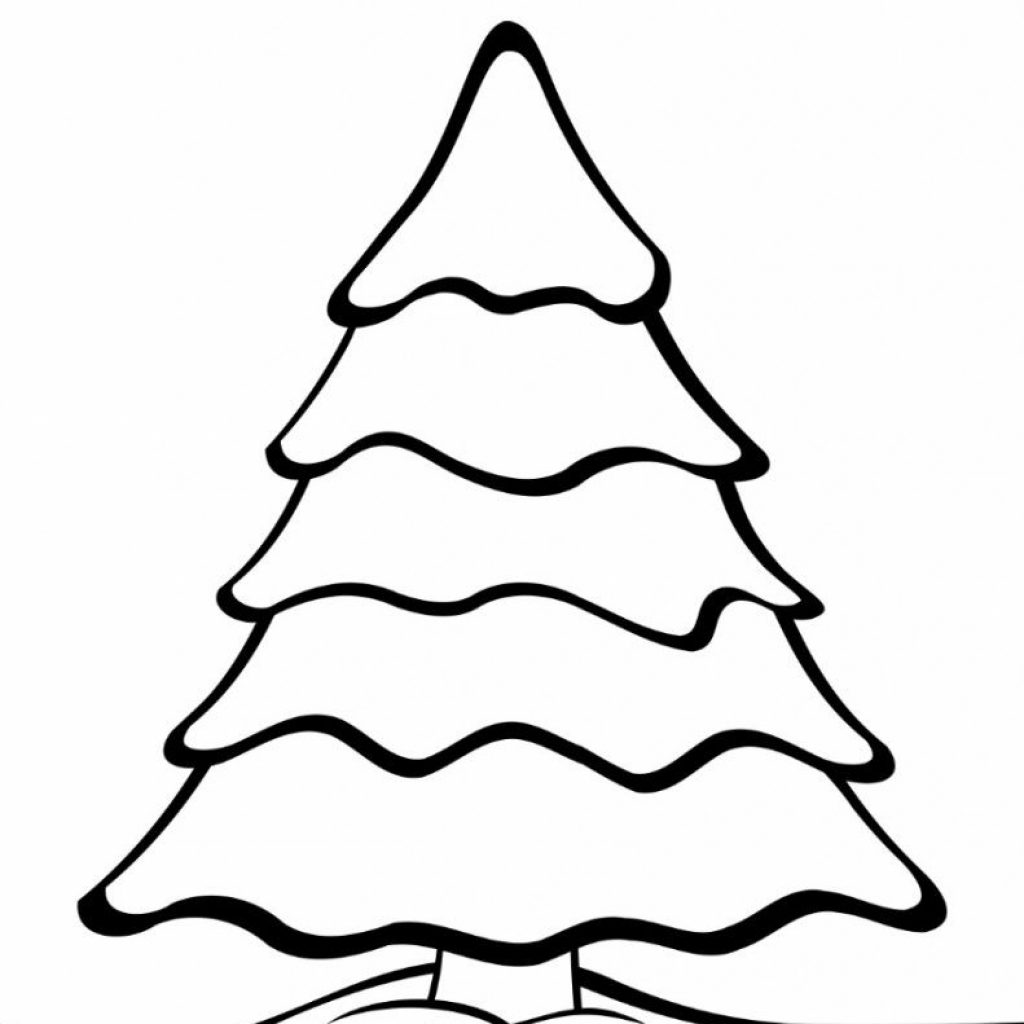 Christmas Tree Coloring Pages Free With Printable Templates And Winter