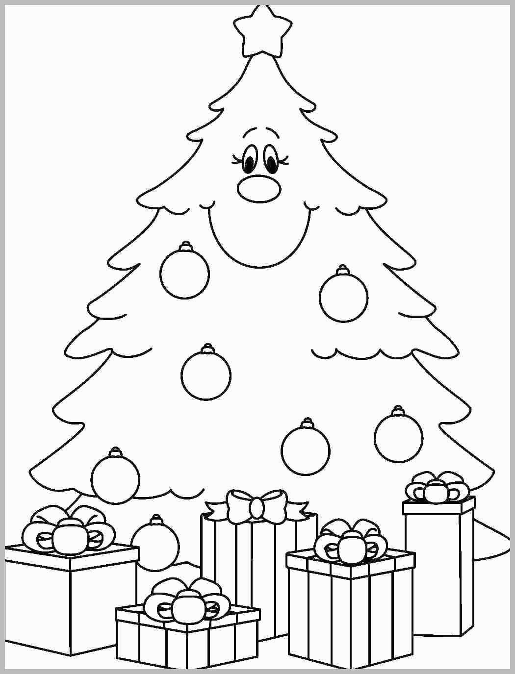 Christmas Tree Coloring Pages Printable With Page Creative Images Collect