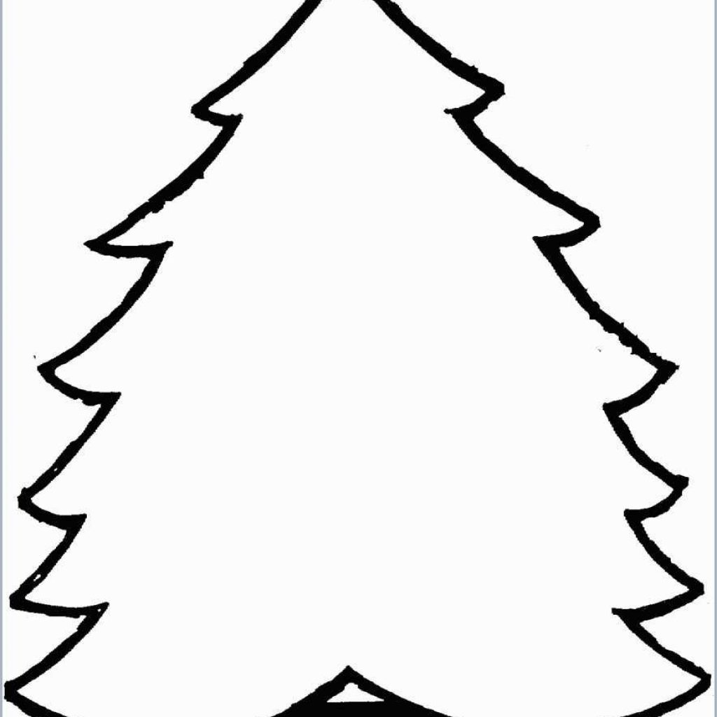 Christmas Tree Coloring Pages Printable With Prettier
