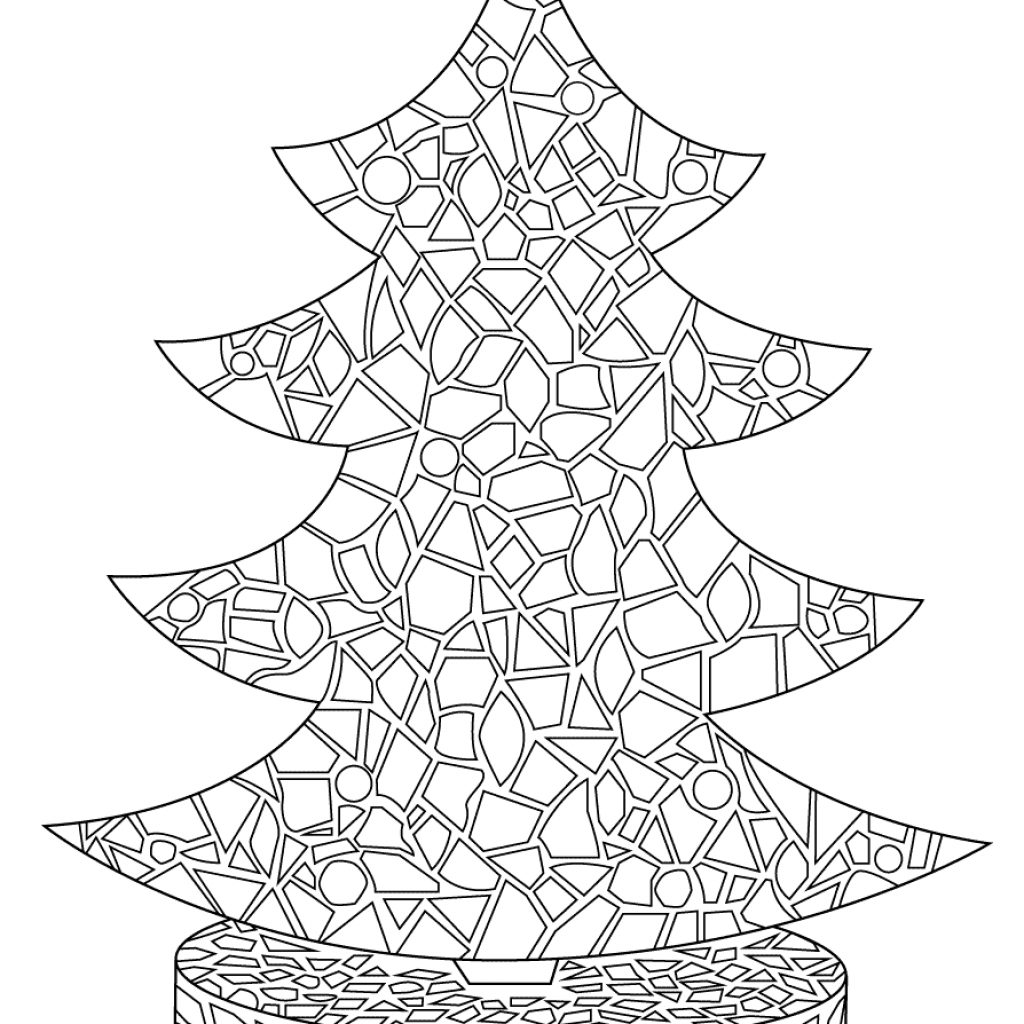 Christmas Tree Coloring Pages With Free