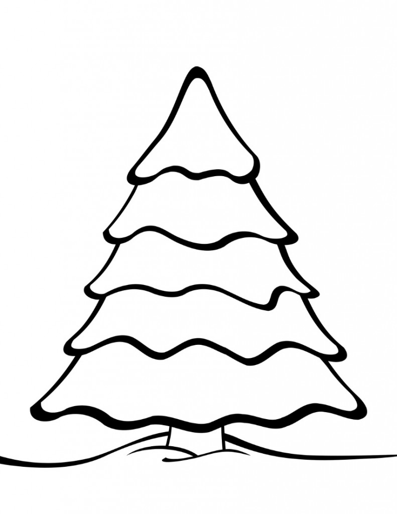 Christmas Tree Coloring Pages With Free Printable Templates