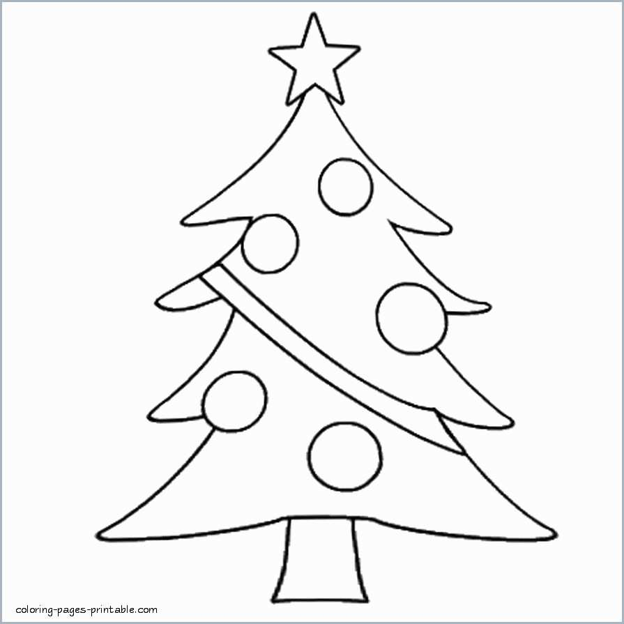 Christmas Tree Coloring Pages With Images Elegant