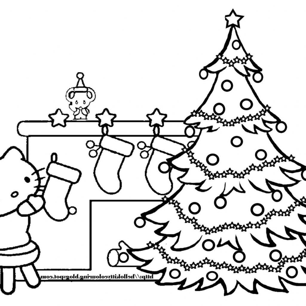 Christmas Tree Coloring Pages With Online Page