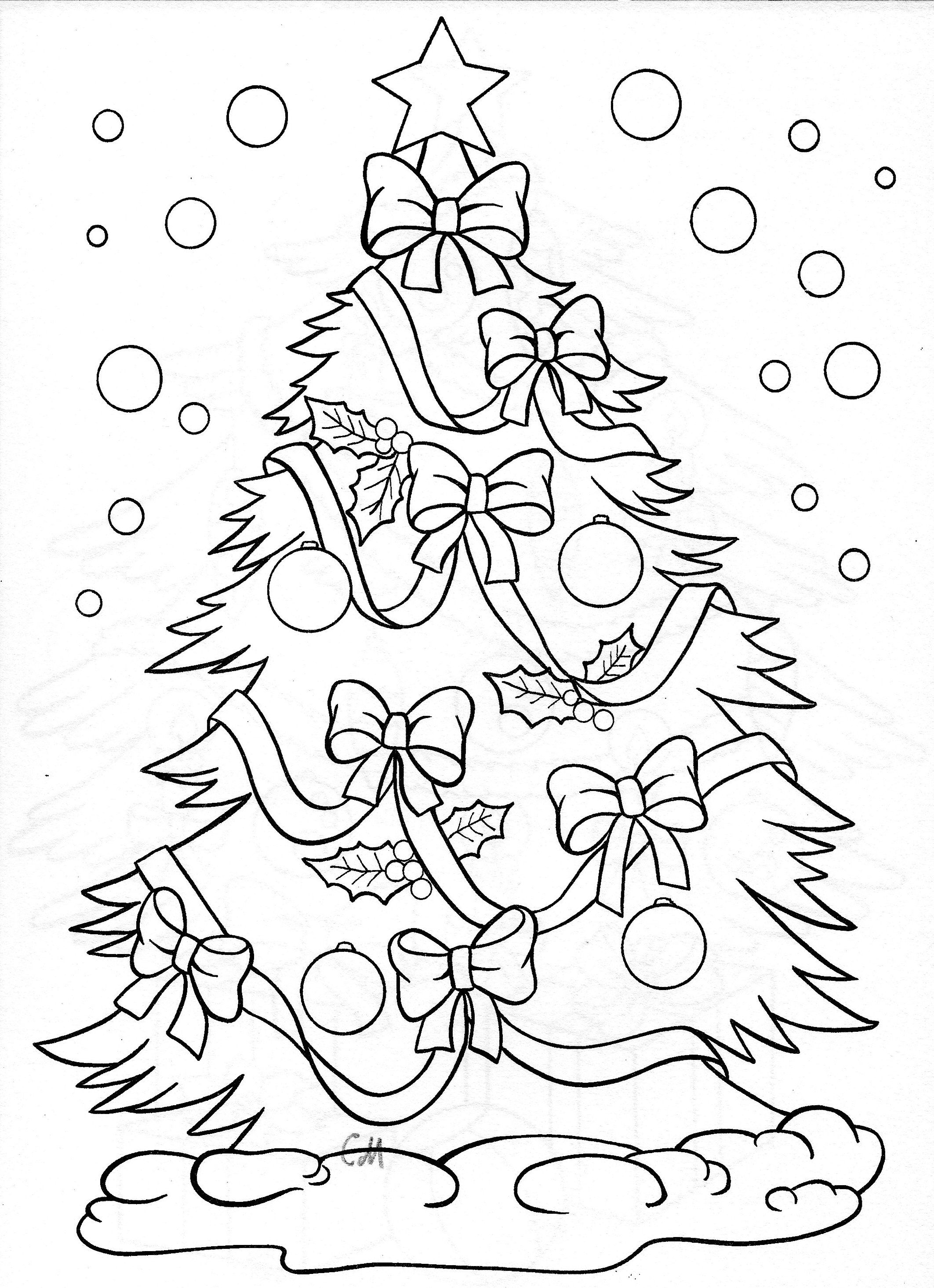 Christmas Tree Coloring Pages With Page Adelynn Pinterest