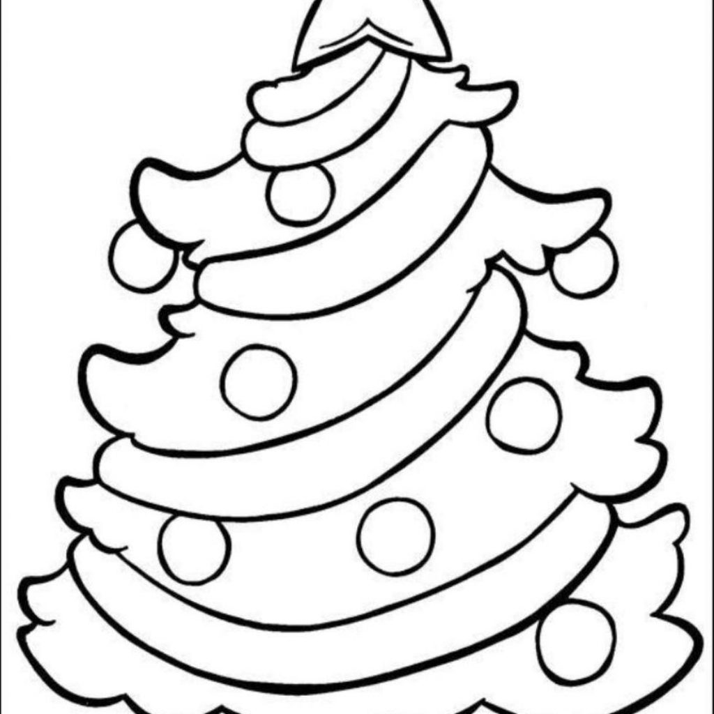 Christmas Tree Coloring Pages With Presents Happy Holidays