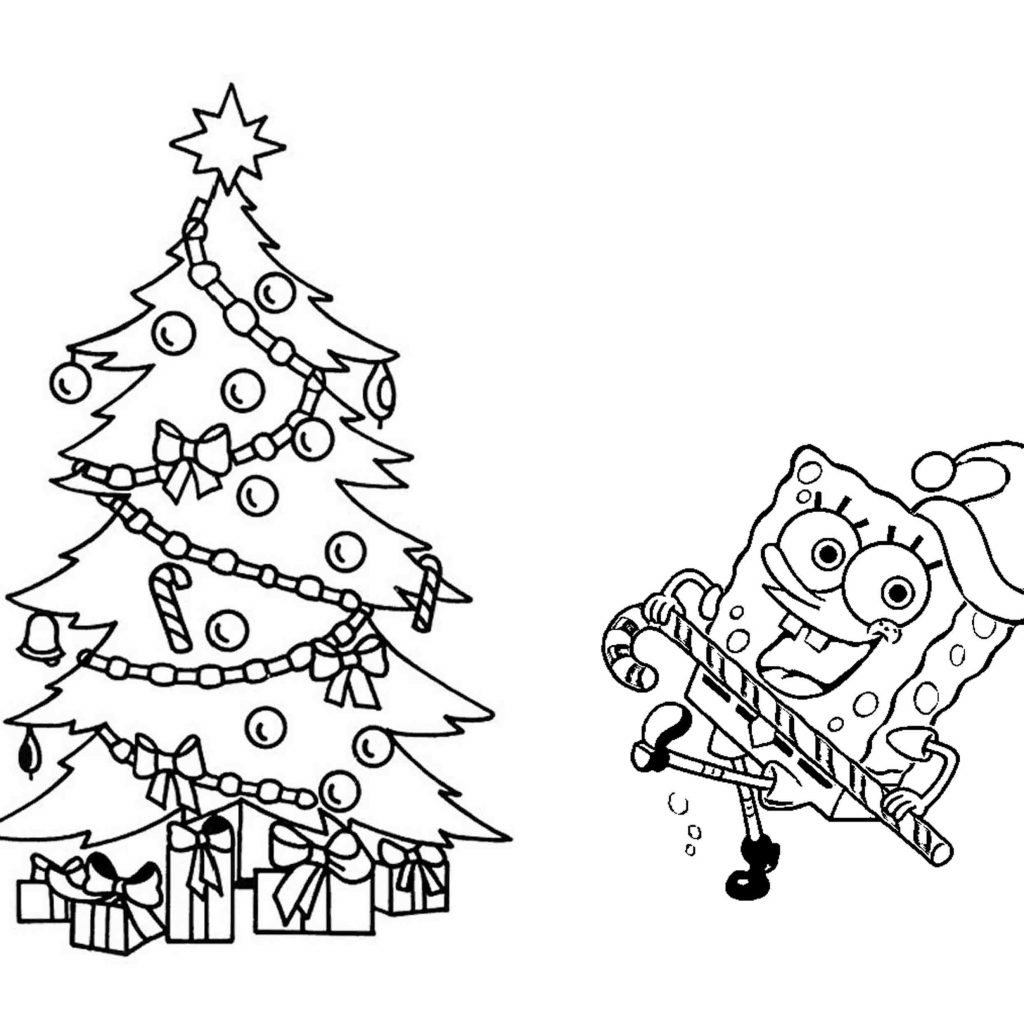 Christmas Tree Coloring Pages With Presents Page Of A Save