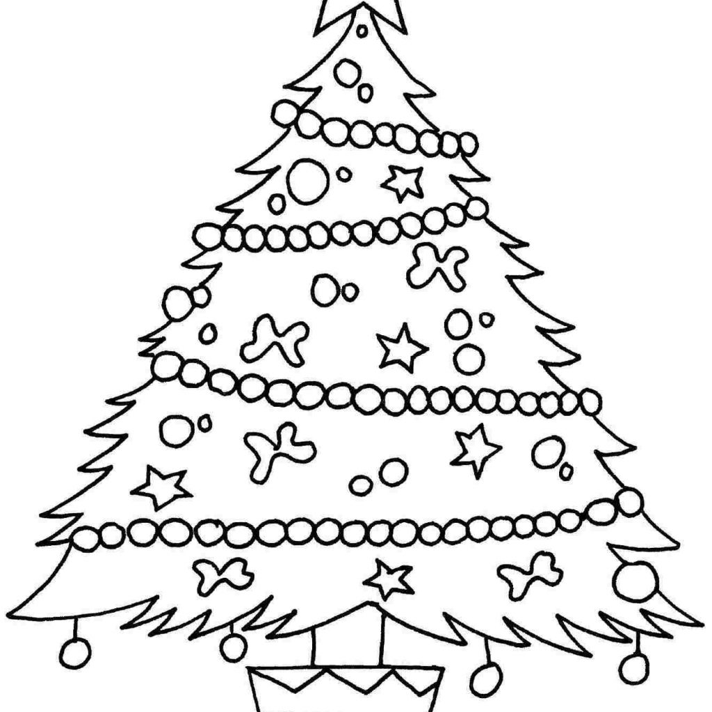Christmas Tree Coloring Pages With Presents Page Template 1 Work Stuff Pinterest