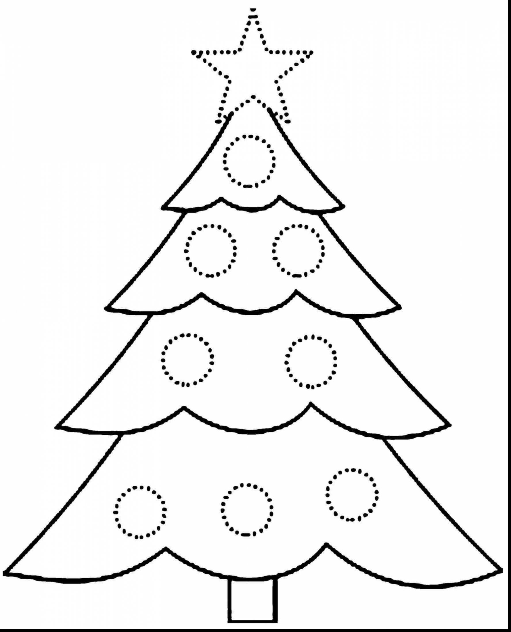 Christmas Tree Coloring Pages With Presents Page