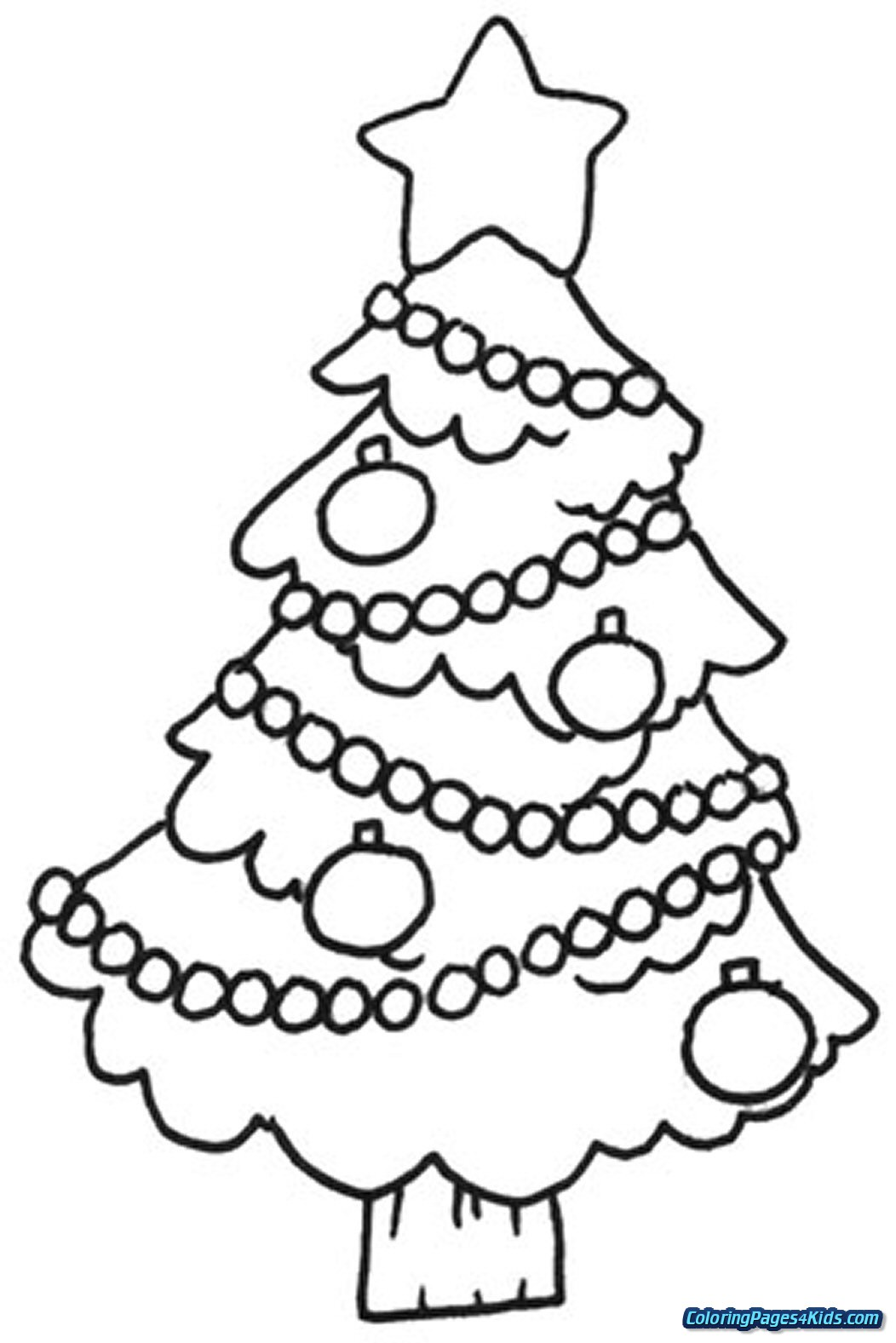 Christmas Tree Coloring Pages With Sheets For Kids
