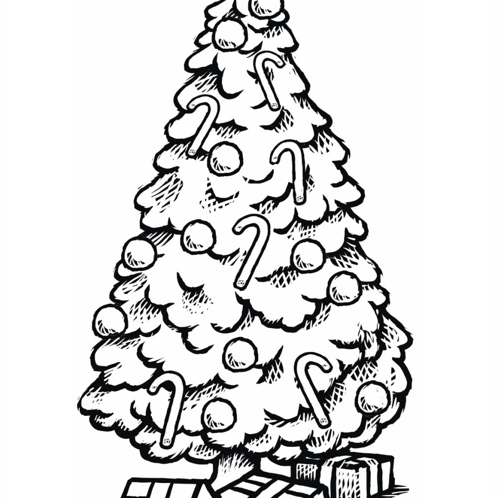Christmas Tree Coloring Pictures With