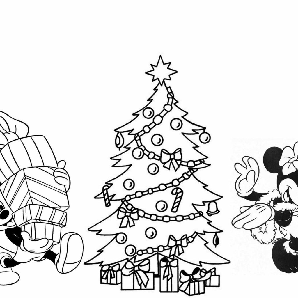 Christmas Tree Coloring Printable With 34 Plain Pages