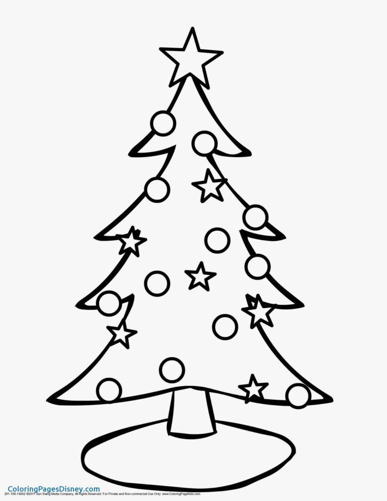 Christmas Tree Coloring Printable With Pages Mst Dn Me